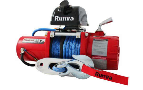 Runva 9.5XS 12V with Synthetic Rope