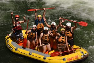 Autoland team in a 2019 rafting session
